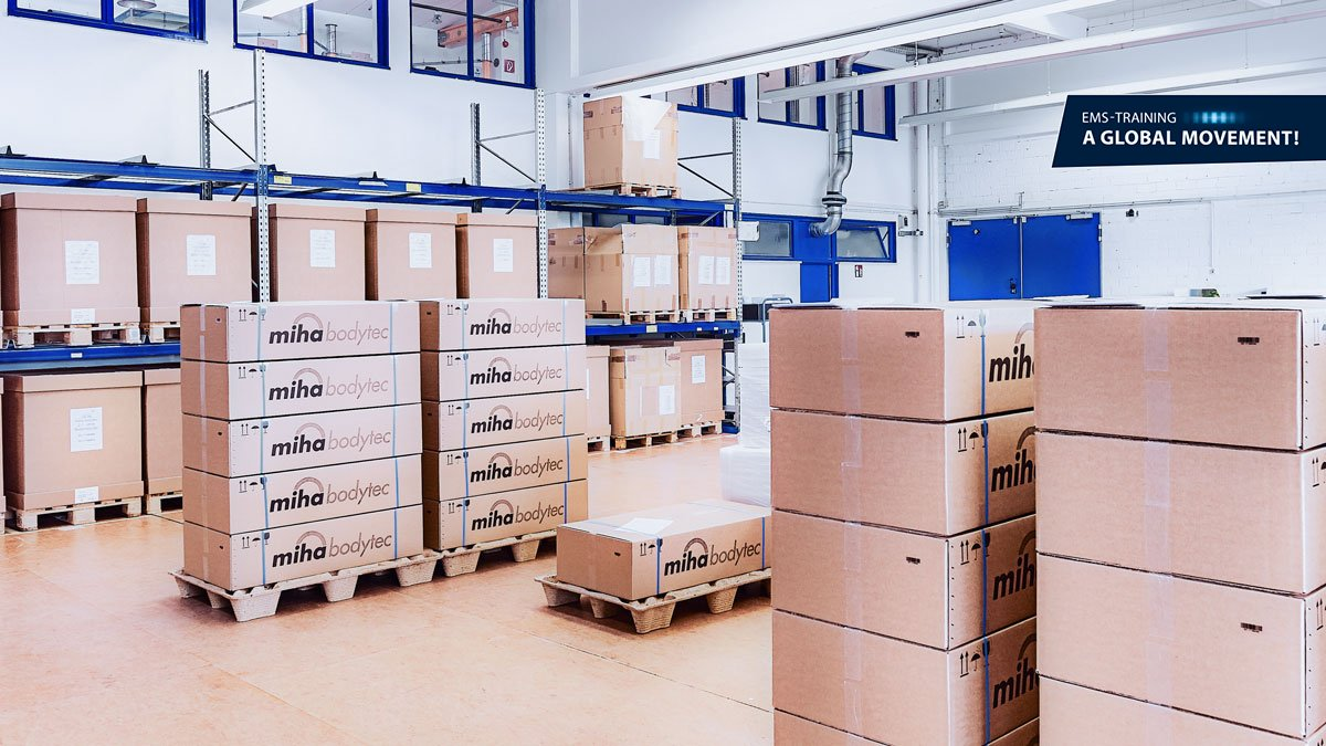 parcel warehouse of miha bodytec gmbh