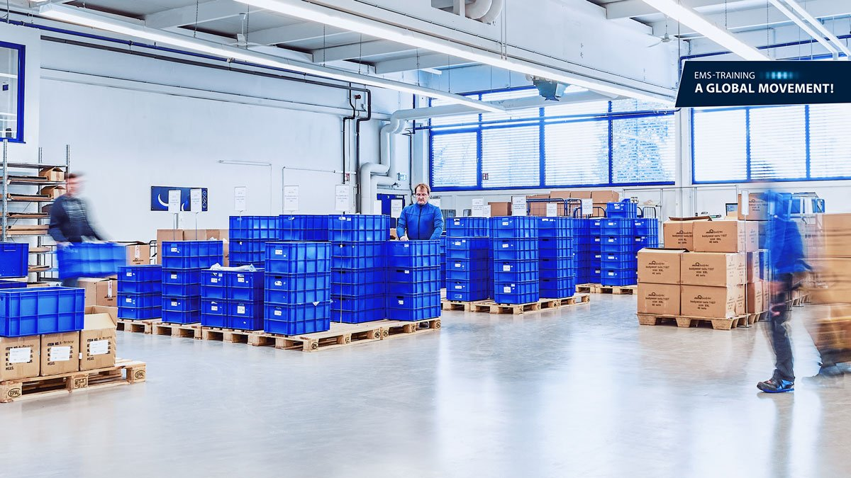 warehouse of miha bodytec gmbh